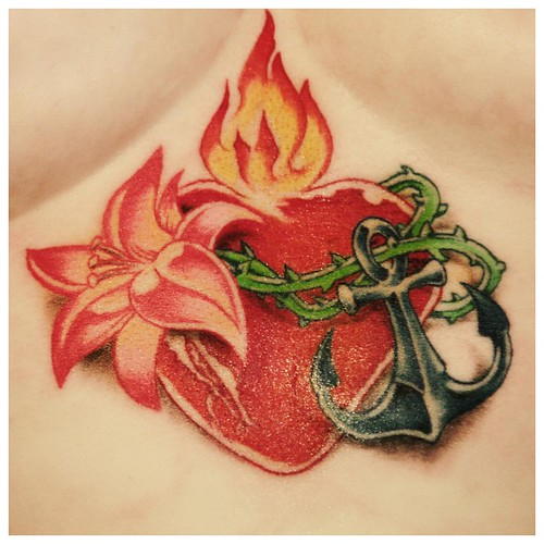 Flaming Heart Tattoo by Maze / Santa Sangre Cologne