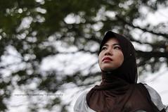 Me and My Heart (wanahfong) Tags: 50mm model nikon bokeh hijab muslimah malaysia kualalumpur nikkor 2009 50mmf18 d300 tudung kepong tamanmetropolitankepong wanahfong