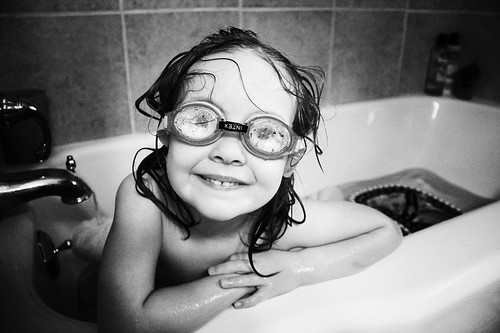 Goggles at Bath Time