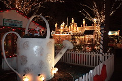 Huge watering can (lehcar1477) Tags: santa christmas xmas holiday zoo lights massachusetts noel christmaslights stoneham zoolights stonezoo santascastle