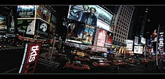 Panorama Times Square by Night (iPh4n70M) Tags: new york nyc shadow usa ny newyork night america lens photography us photo nikon photographer photographie nocturnal shot unitedstates united picture sombre photograph tc states nikkor nuit nocturne photographe d90 tcphotography ph4n70m iph4n70m tcphotographie
