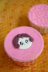Cupcake w/ 2D Figurine