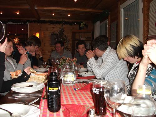 Gemütliches Abendessen in Kittiä