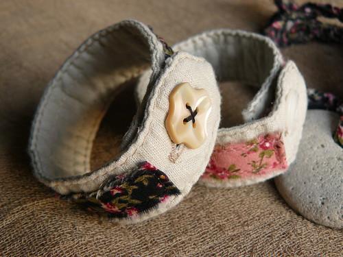 textile bracelets & necklace