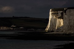 Seven Sisters in Sidelight (Julian Barker) Tags: seven sisters birling gap cuckmere haven east sussex england uk british isles canon 600 julian barker light shadow spotlight chalk cliff south coast beach sea dramatic melodrama atmosphere
