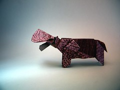 Hippopotamus - Kyu-seok Oh (aka Jassu) (Rui.Roda) Tags: origami papiroflexia papierfalten hipopotamo hippopotame hippo hippopotamus kyuseok oh jassu