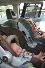 Liam 2 weeks 082 (jvaughnRN) Tags: brown grey infant convertible carseat newborn 16months graco britax extendedrearfacing