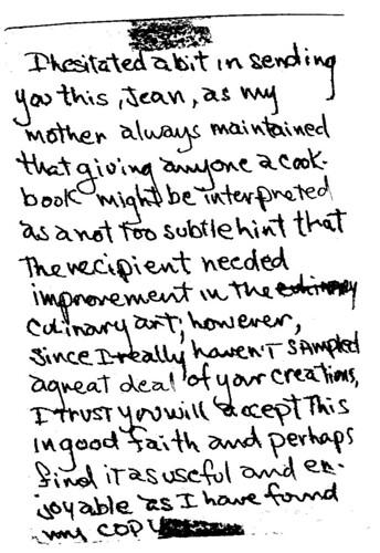 cookbook note