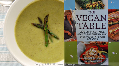 Roasted Asparagus Soup From The Vegan Table
