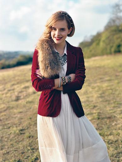 Emma Watson modela vestido