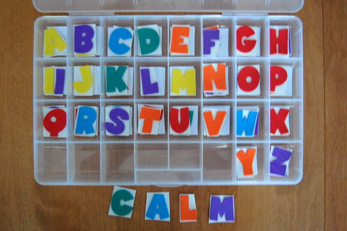 homemade movable alphabet