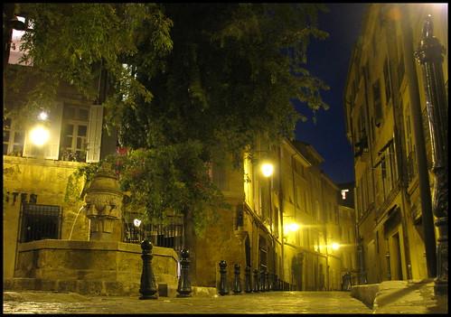 Le soir. Aix en Provence