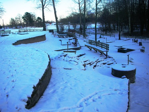 Mariestad Mini Golf in Sweden - Winter