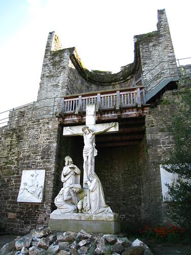Conwy城牆邊的耶穌像