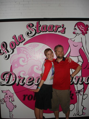 Erica and Fuzzy at Lola Staar's Dreamland Rollerrink