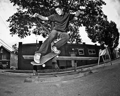 Julian Izaguirre (Jesus Arellanes) Tags: park street bw white chicago black canon illinois oak julian skateboarding flash fisheye explore 154 peleng izaguirre 50d strobist