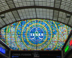 church window glass shopping prague praha wenceslassquare stained passage tesla nikola deification sheblindedmewithscience svetozor photobykari
