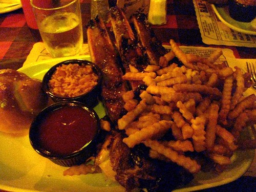 Rib and Chicken Combo with Fries (Before)