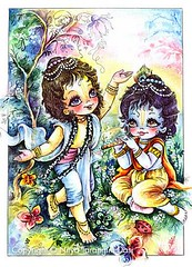 ISKCON desire tree - Krishna and Balarama playing (ISKCON Desire Tree) Tags: demon krishna radha vrndavana balaram iskcon putana devaki radharani kamsa bakasura aghasura