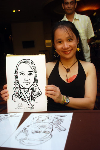 Caricature live sketching for Standard Chartered Bank - 19