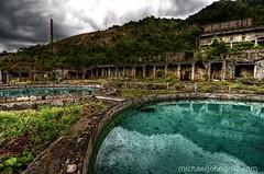 The chemical pools of Osarizawa mine (michaeljohngrist) Tags: abandoned japan ruins industrial apocalypse iwate tohoku urbanexploring endoftheworld urbex d90 haikyo