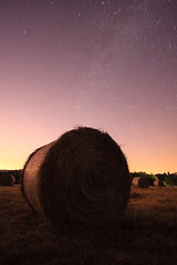Harvest (Wilfried.B) Tags: uk longexposure summer nature field night stars landscape kent wheat harvest wideangle haystack roll hay agriculture 1022mm milkyway noiseware hawkhurst canon40d Astrometrydotnet:status=failed wilfriedb Astrometrydotnet:id=alpha20090846748585