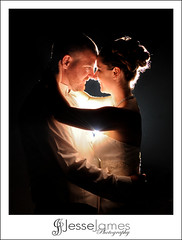 Patricia & Kevin (Jesse James Photography) Tags: wedding light love night groom bride nikon married marriage strobist d700
