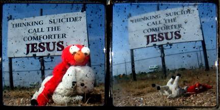 Elmo: Life on the farm; diptych