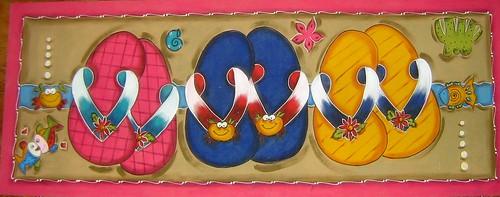 tapete passadeira chinelo com peixes by ATELIER DE ARTES DA SILVOCA