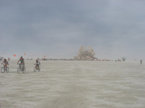 temple through dust