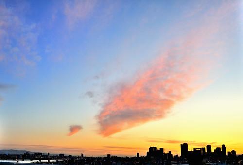 高見から北東の空