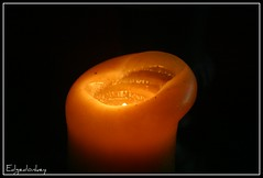 Candle Light   (2) (The Top Hat Bandit) Tags: light orange black mac glow candle flame reddin edgedonkey