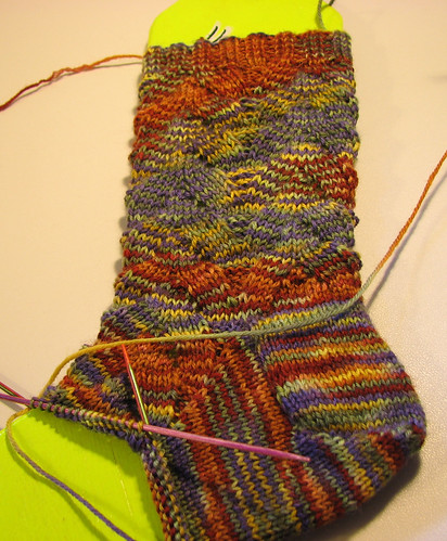 Crazy Monkey Sock WIP