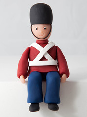 Toy Soldier (Rouvelee's Creations) Tags: polymerclay caketopper toysoldier rouvelee