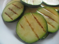 Pan grilled courgettes