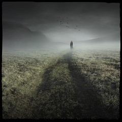 The Mystic's Dream (Midnight - digital) Tags: road woman mist strange silhouette way square artwork ghost digitalart dream atmosphere eerie mysterious mystic loreena mckennitt