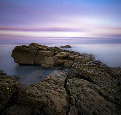 BFA Square (dan barron photography - landscape work) Tags: longexposure pink blue sunset seascape motion blur rock snake bfa