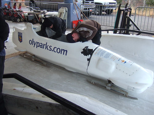 One of our bobsleds
