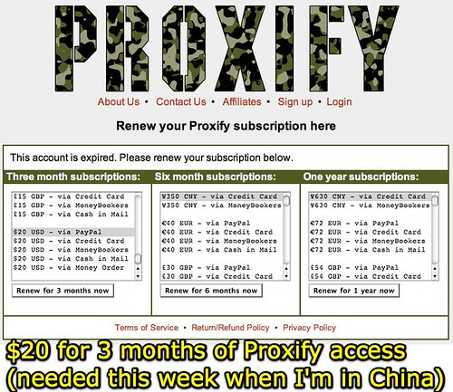 $20 for 3 months of Proxify access