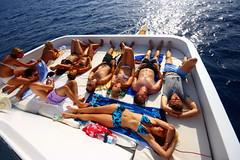 Sunbath (DOS82) Tags: life girls summer people brown sun hot sexy relax boot boat skin live blondes redsea bikini chicks bodys sunbat
