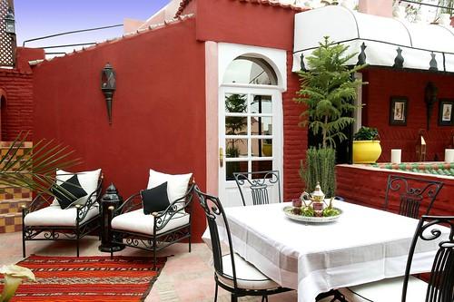 terrace riad eden marrakech morocco