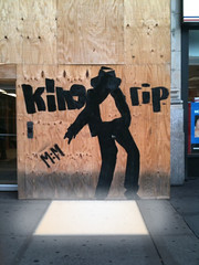 Michael Jackson street art, corrected for reality