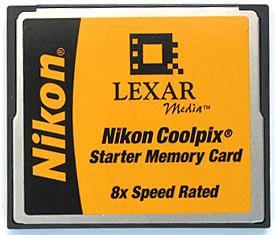 Nikon Starter Card - LEXAR 16 MB CF