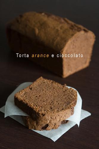 Torta arance e cioccolato