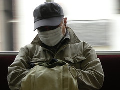 Man with mask in Japan.
