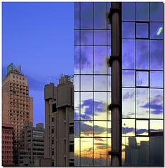 "Front e retro (Nespyxel) Tags: travel sunset sky urban colors architecture modern reflections mirror tramonto genova cielo colori riflessi viaggio architettura citta specchio palazzi geometrie reflexes buindings geometries challengeyouwinner ""pleasedontusethisimageonwebsites blogsorothermediawithoutmyexplicitpermission©allrightsreserved"""