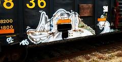 Scan (mightyquinninwky) Tags: 2001 railroad geotagged graffiti kentucky character tag graf tracks railway tags scan tagged railcar 01 rails boxcar graff graphiti mds gravel trainyard buffed trainart westernkentucky paintedtrain freightyard railart reflectivetape ohiorivervalley taggedtrain paintedsteel hendersonkentucky taggedboxcar paintedboxcar geo:lat=37836576 geo:lon=87569996