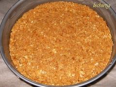Tarta de queso y lima-cubrir base