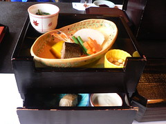 lunch at Ganko Takasegawa Nijoen