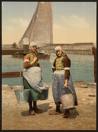 [Native girls, Marken Island, Holland] (LOC)